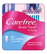 CAREFREE® BARELY THERE® G-String Liners