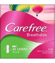 CAREFREE® Breathable Aloe Liners