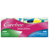CAREFREE® Selections Regular/Super Tampons