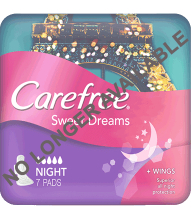 CAREFREE® Extra Sweet Dreams Night Pads